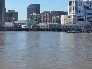 New Orleans from the Canal Street Ferry on the Mississippi River