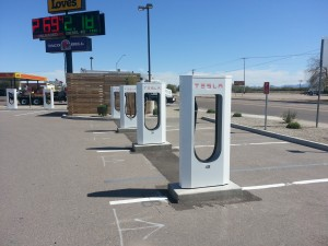 No waiting for a spot to charge your Tesla in Gila Bend, Arizona