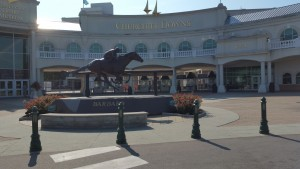 The main gate at Churchill Downs