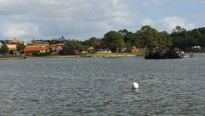 The World Showcase continues, wrapping around a lake inside Epcot.  It's like the world's largest food court.