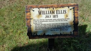 Grave marker at Boot Hill